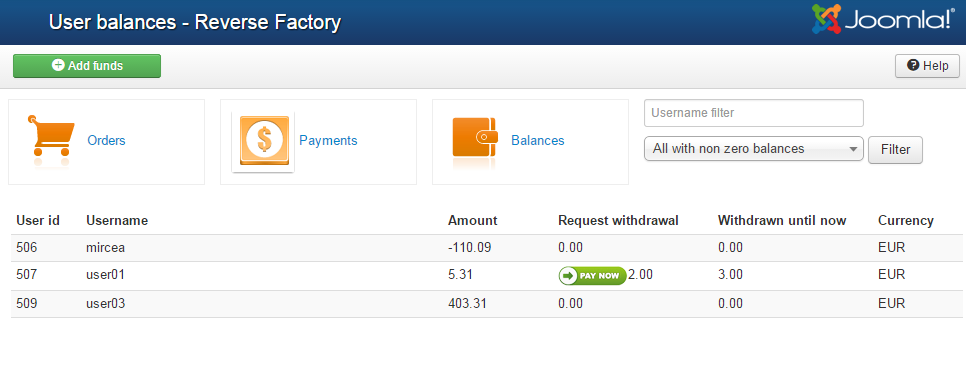 Payments Management [the Factory Wiki]